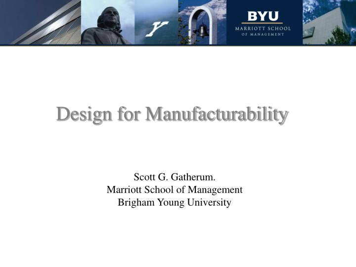 design for manufacturability n.