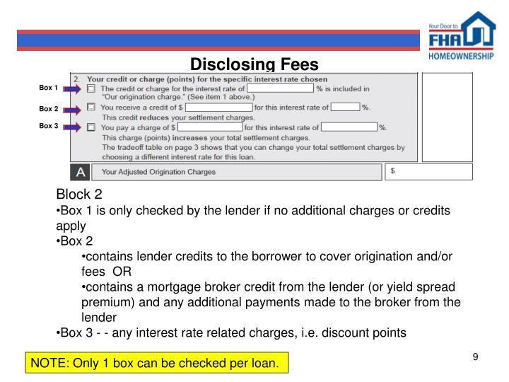 Disclosing Fees