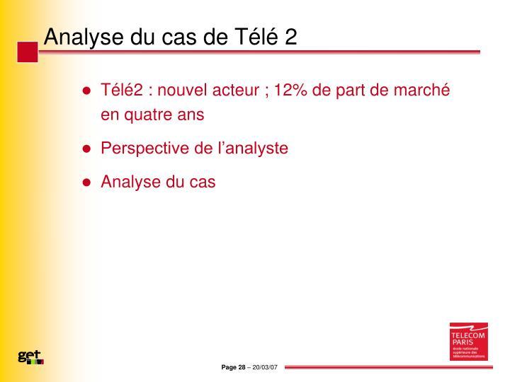 Analyse du cas de Télé 2
