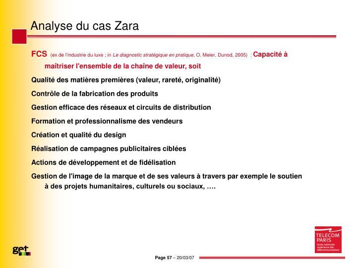 Analyse du cas Zara