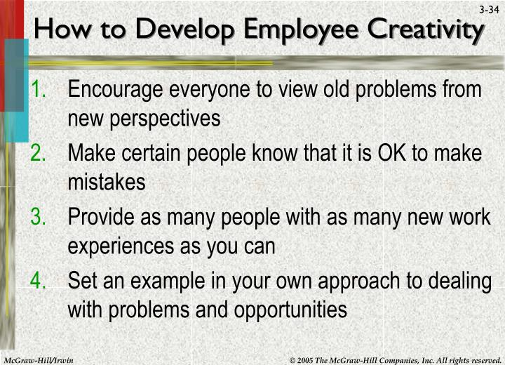 How to Develop Employee Creativity
