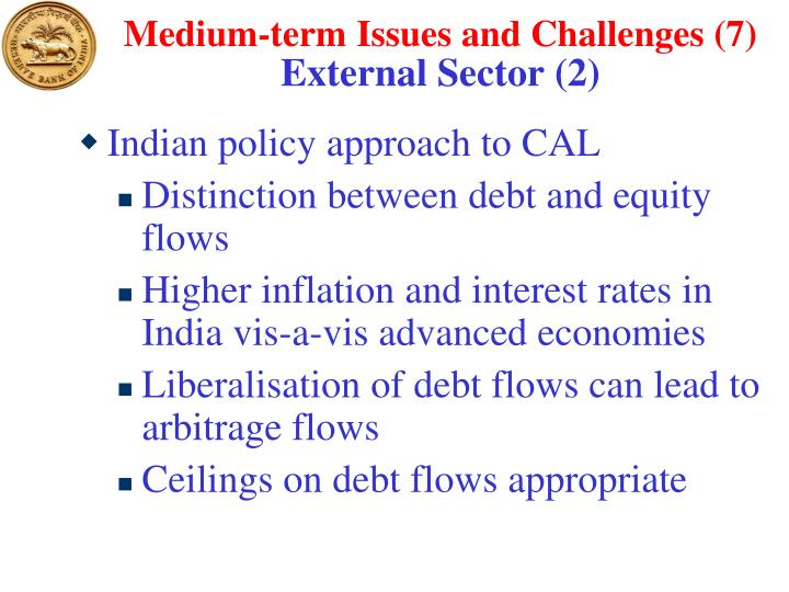 Medium-term Issues and Challenges (7)