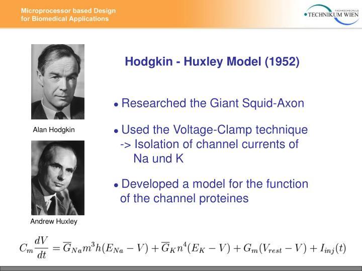 Hodgkin - Huxley Model (1952)