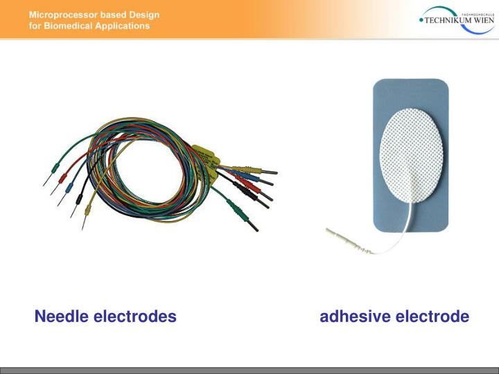 Needle electrodes                               adhesive electrode
