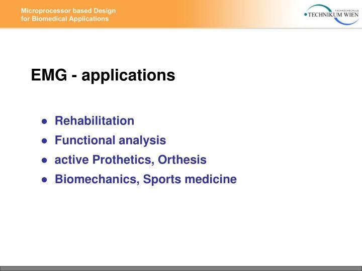 EMG - applications