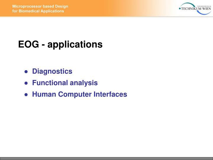 EOG - applications