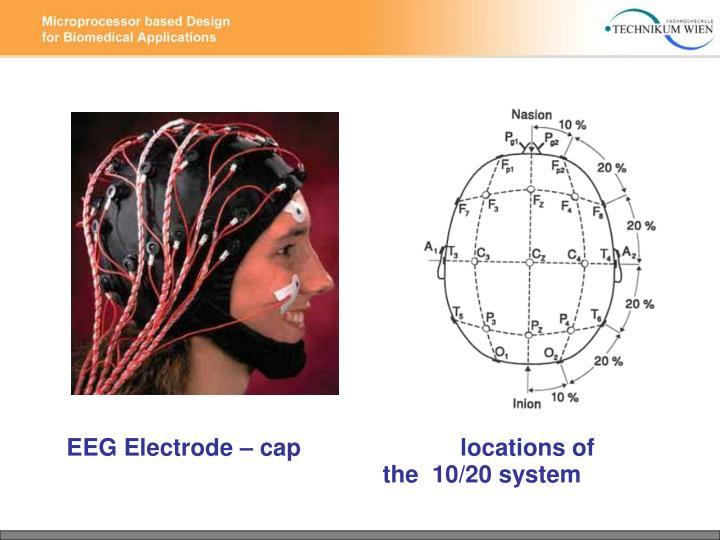 EEG Electrode – cap                        locations of