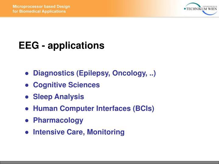 EEG - applications