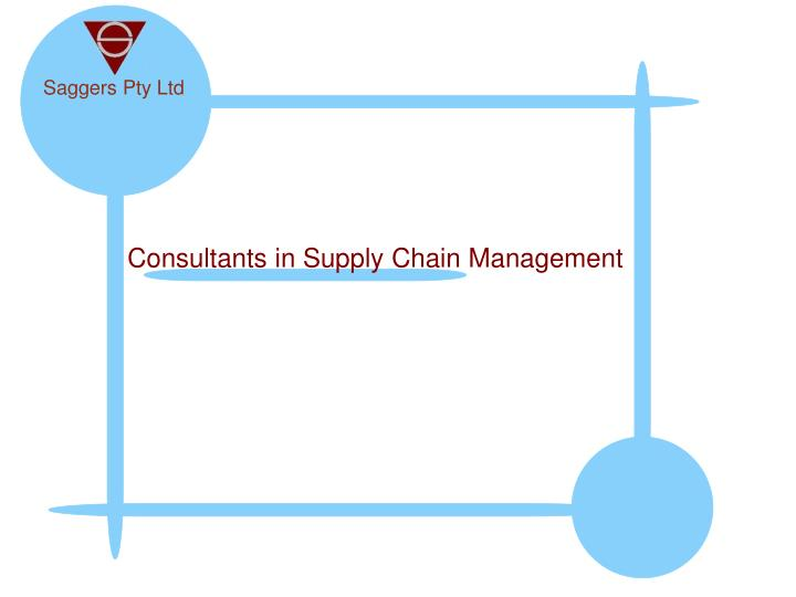 consultants in supply chain management n.