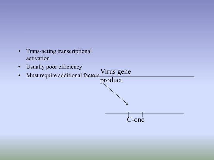 Trans-acting transcriptional activation