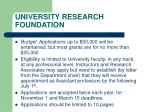 university research foundation1