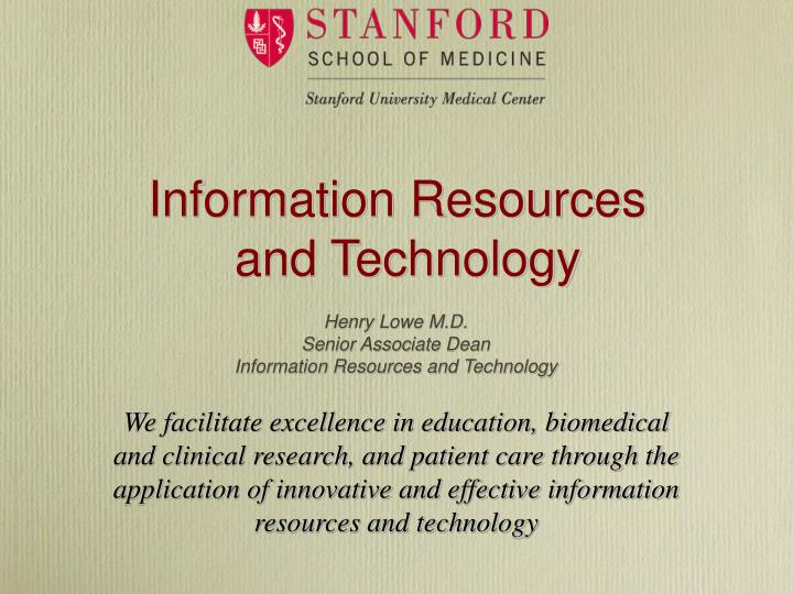 information resources and technology