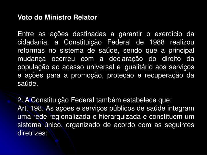 Voto do Ministro Relator