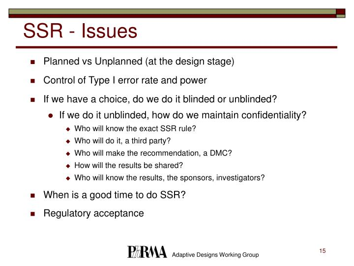 SSR - Issues