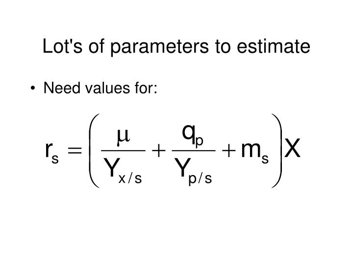 Lot's of parameters to estimate