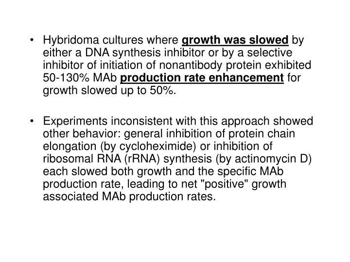 Hybridoma cultures where