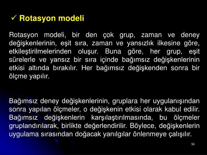 Rotasyon modeli