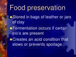 food preservation1