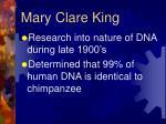 mary clare king