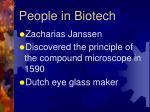 people in biotech