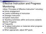 effective instruction and progress monitoring