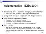 implementation idea 2004