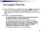 surrogate parents