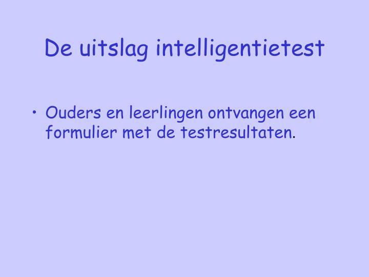 De uitslag intelligentietest