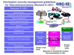 information security management guidelines for telecommunications revised x 1051