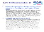 q 6 17 draft recommendations 2 5