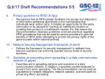 q 6 17 draft recommendations 5 5