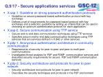 q 9 17 secure applications services