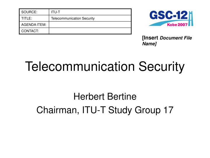 telecommunication security n.