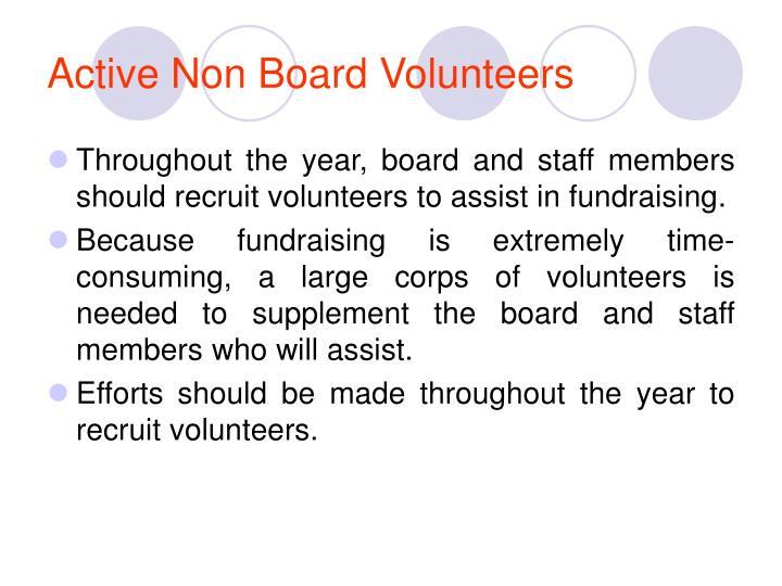 Active Non Board Volunteers