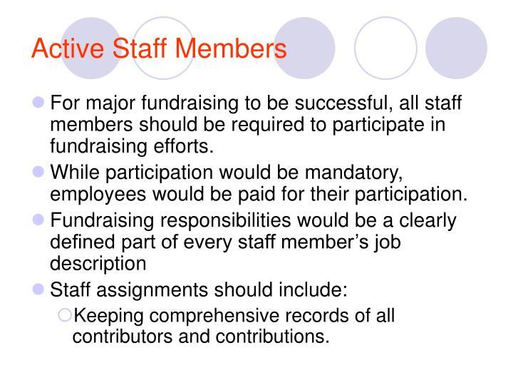 Active Staff Members