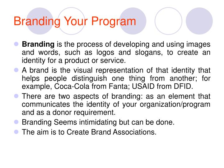 Branding Your Program