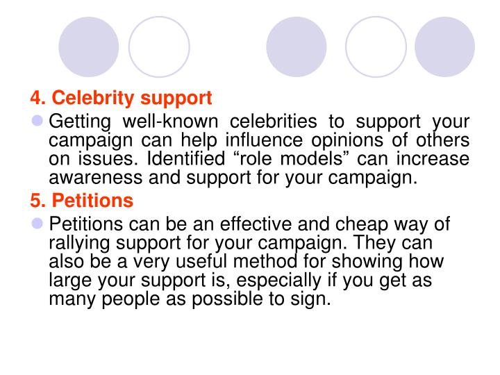 4. Celebrity support