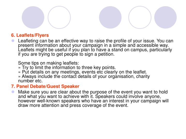 6. Leaflets/Flyers