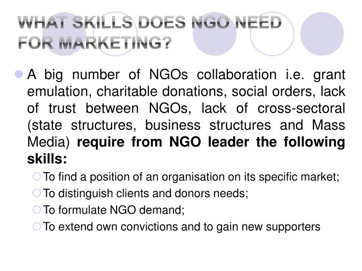 What Skills does NGO Need for Marketing?