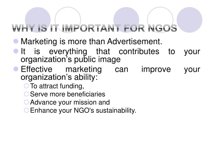 Why is it important for ngos