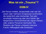 was ist ein trauma dsm iv