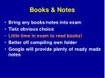 books notes