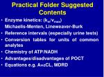 practical folder suggested contents1