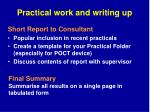practical work and writing up2