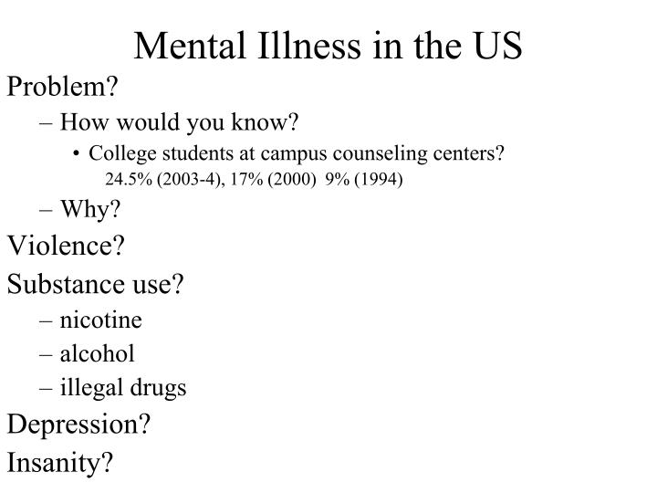 Mental Illness in the US