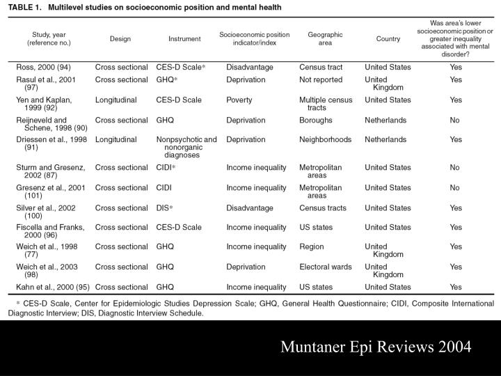 Muntaner Epi Reviews 2004