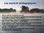 les aspects p dagogiques3