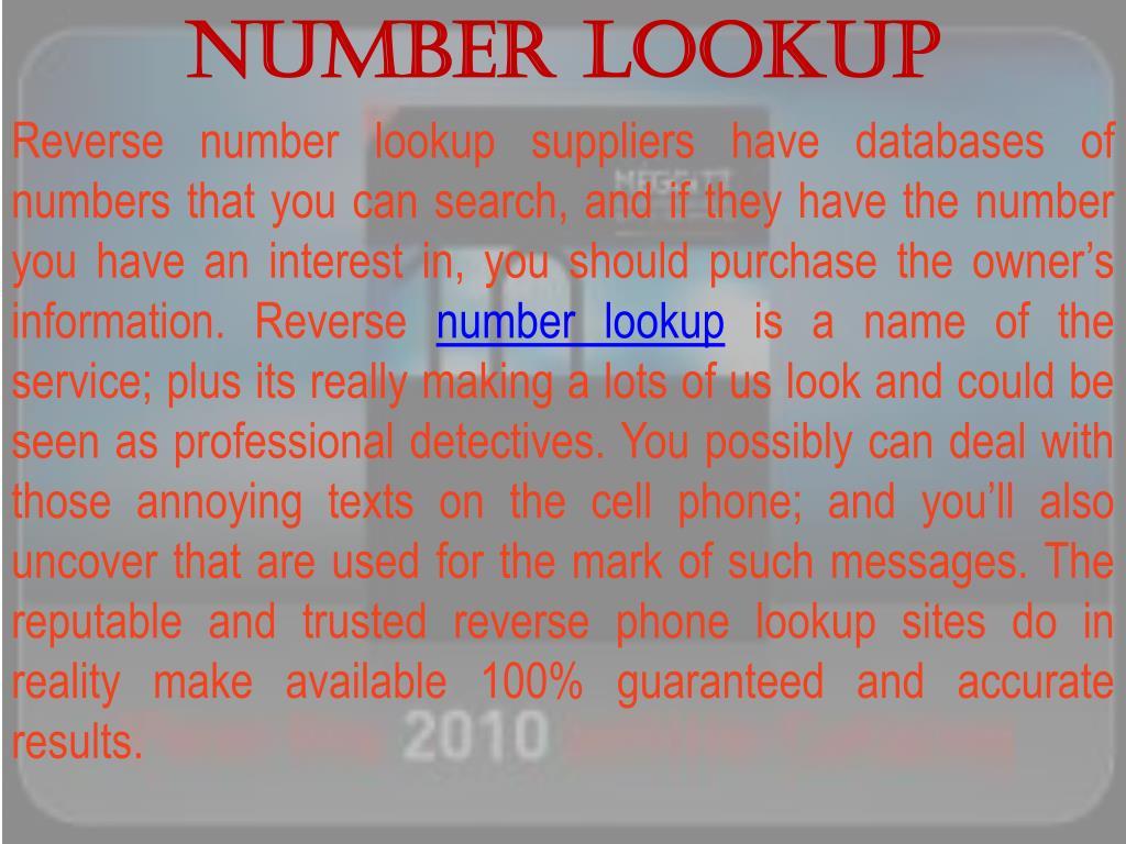 Number Lookup