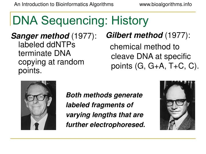 DNA Sequencing: History