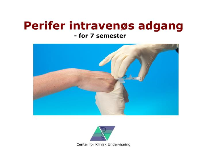Perifer intraven s adgang